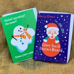 Santa / Snowman Growing Card