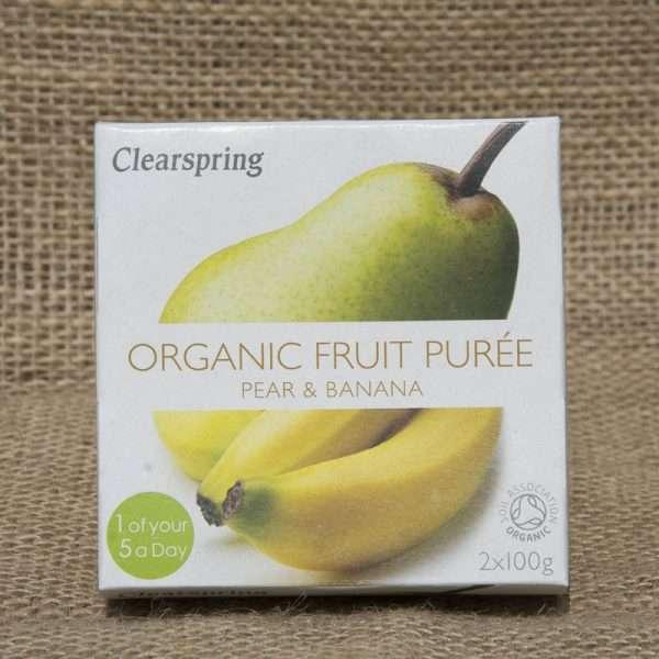 Clearspring Pear Banana Puree 200g