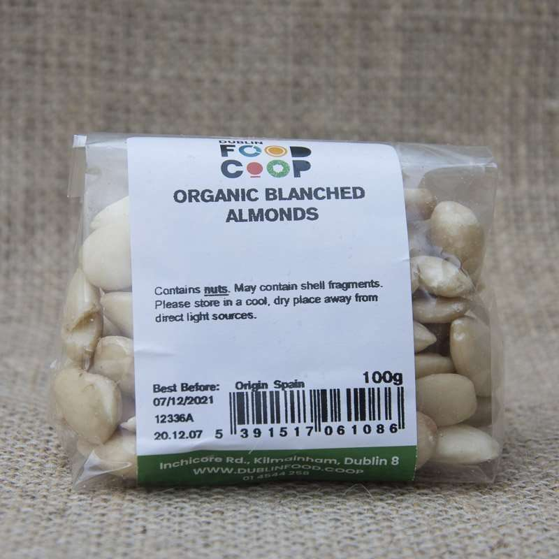 Dublin Food Coop Organic Blanched Almonds