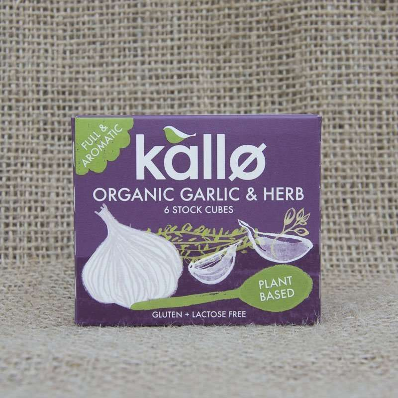 Kallo Organic Garlic Herb 6 Stock Cubes