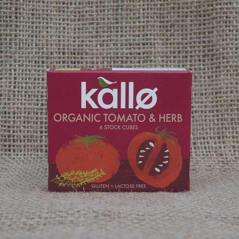 Kallo Organic Tomato Herb 6 Stock Cubes