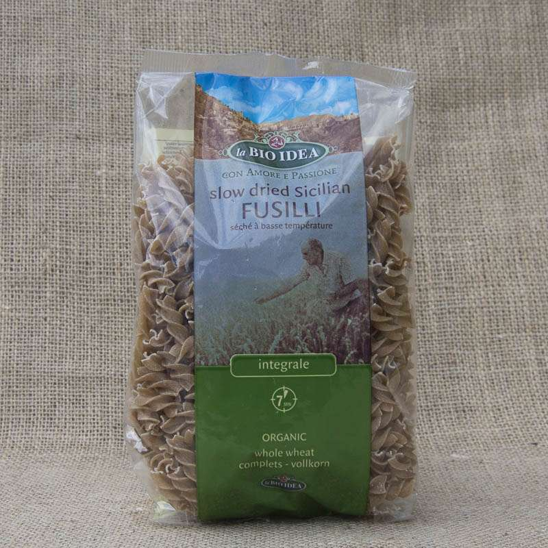 La Bio Idea Slow Dried Sicilian Fusilli Brown