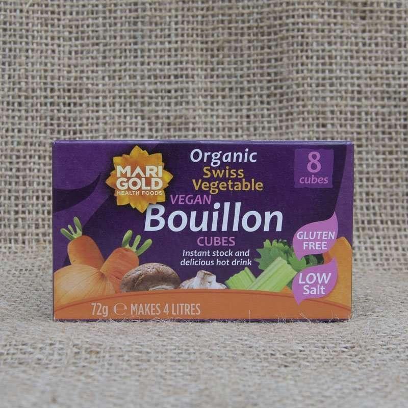 Marigold Organic Swiss Vegetable Vegan Bouillon Cubes Low Salt