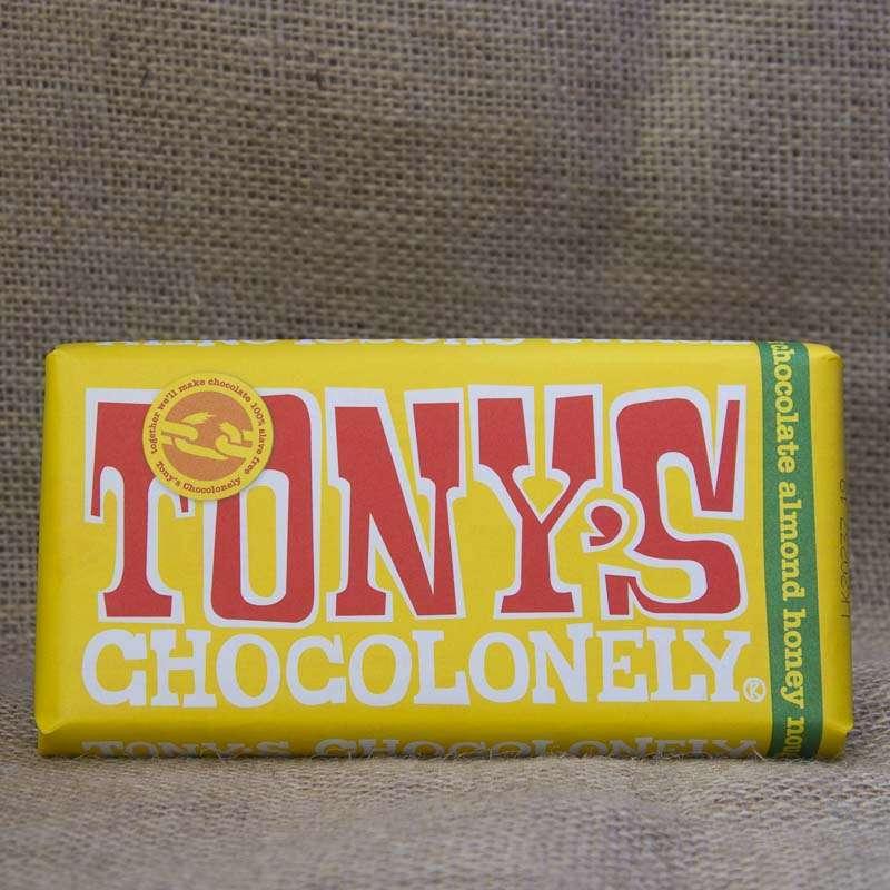 Tony's Chocolonely Milk Almond Honey Bar 180g